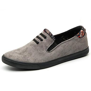 Hombre Zapatos Ante Primavera / Otoño Confort Zapatos de taco bajo y Slip-On Negro / Marrón UG7dhI5N