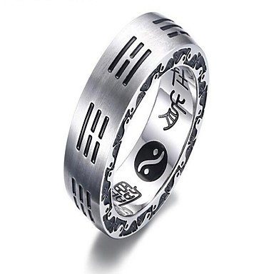 levne Pánské šperky-Pánské Typ kamene 1 Stříbrná Titanová ocel Titan Circle Shape Vintage Dar Denní Šperky