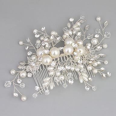 povoljno Party pokrivala za glavu-Kristal / Umjetno drago kamenje / Legura Kose za kosu s Štras / Kristal / Faux Pearl 1pc Vjenčanje / Special Occasion Glava