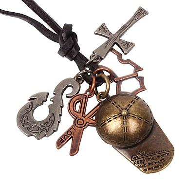 levne Dámské šperky-Pánské Náhrdelníky s přívěšky Haç Nůžky Vintage Kov Slitina Bronzová Náhrdelníky Šperky 1 Pro Narozeniny Dar Cosplay kostýmy