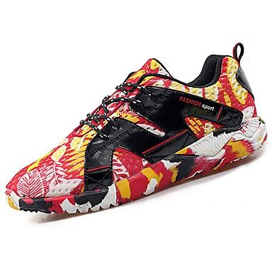 Hombre Zapatos Malla Primavera Confort Zapatillas de Atletismo Paseo Azul Oscuro / Gris oscuro / Gris claro 9FbEgH