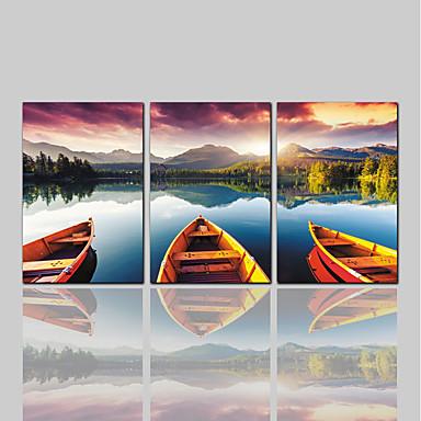 povoljno Ukrašavanje zidova-Print Rolled Canvas Prints Comtemporary Klasik Rustikalni Tri plohe Umjetničke grafike
