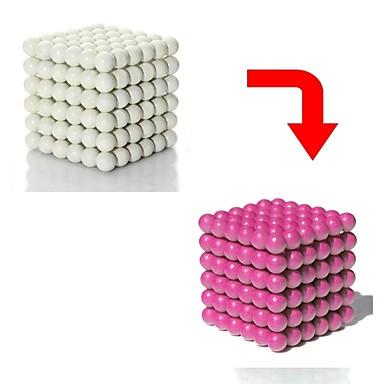 512 pcs Brinquedos Magnéticos Bolas Magnéticas Blocos de Construir Imãs Magnéticos Raros Super Fortes Ímã de Neodímio Cubo de quebra-cabeça Magnético Brilho Variação de Cor Esportes Crianças / Adulto