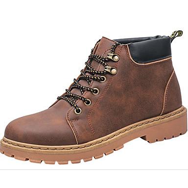 Hombre Zapatos Ante Otoño / Invierno Confort / Botas de Combate Botas Botines / Hasta el Tobillo Negro / Amarillo tbTE5