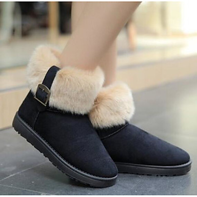 3a290e51 Mujer Zapatos PU Otoño / Invierno Confort Botas Tacón Plano Dedo redondo  Botines / Hasta el Tobillo Negro / Azul / Color Camello 6431584 2018 –  $14.99
