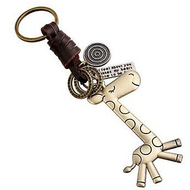 cheap Keychains-Keychain Jewelry Leather Alloy Animal Sweet Lovely Daily