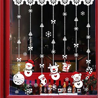 Window Film & αυτοκόλλητα Διακόσμηση Χριστούγεννα / Πρωτοχρονιά Art Deco PVC / Vinyl Αυτοκόλλητο παραθύρου / Σαλόνι / Shop / Cafe
