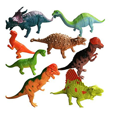 มังกรและไดโนเสาร์ Model Building Kits สัตว์ต่างๆ การจำลอง ขนาดใหญ่ Triceratops ตัวเลขไดโนเสาร์ ไดโนเสาร์ยุคจูราสสิก พลาสติก คลาสสิกและถาวร 8 pcs สำหรับเด็ก เด็กผู้ชาย เด็กผู้หญิง Toy ของขวัญ