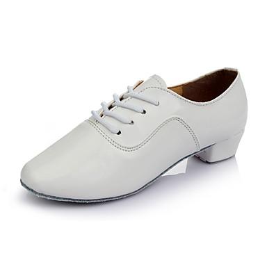ราคาถูก รองเท้าเต้นราคาถูก-สำหรับผู้หญิง รองเท้าเต้นรำ สังเคราะห์ / หนังสิทธิบัตร รองเท้าเต้นรำของเ็ด็ก ส้นเรียบ ส้นต่ำ ตัดเฉพาะได้ ขาว / สีดำ / สีเงิน / ในที่ร่ม / EU37