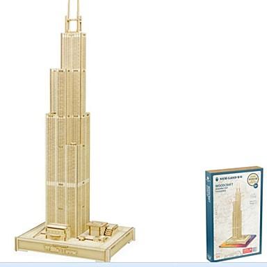 levne 3D puzzle-3D puzzle Dřevěné puzzle Modele Móda Dům Sears Tower Nový design Udělej si sám 1 pcs Klasické Módní Dětské Chlapecké Dívčí Hračky Dárek