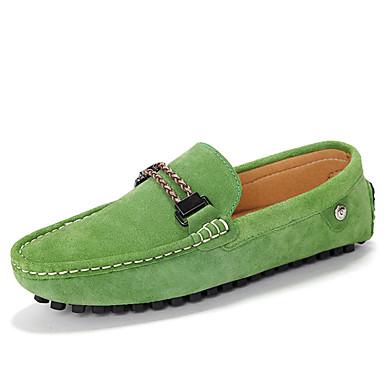 Hombre Zapatos Cuero Primavera / Otoño Mocasín Zapatos de taco bajo y Slip-On Paseo Gris / Rojo / Azul h6VPy
