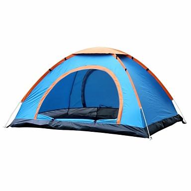 4 pessoas Tenda Ao ar livre Á Prova-de-Chuva Única Camada Automático Dome Barraca de acampamento 1000-1500 mm para Acampar e Caminhar Pesca Exercicio Exterior Tecido Oxford 100% Poliéster Nylon 210D