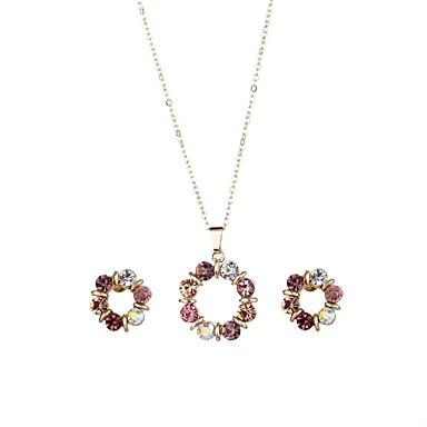 Γυναικεία Συνθετικό Diamond Κουμπωτά Σκουλαρίκια Κρεμαστά Κολιέ Κλασσικό Μοντέρνα Προσομειωμένο διαμάντι Σκουλαρίκια Κοσμήματα Χρυσό Για Καθημερινά