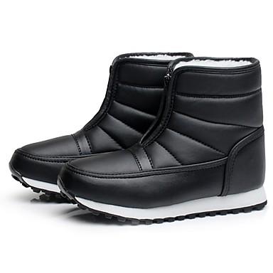 Γυναικεία Μπότες Χιονιού Χειμωνιάτικες μπότες PU Χειμερινά Αθήματα Αδιάβροχο Διατήρηση θερμότητας Χειμώνας