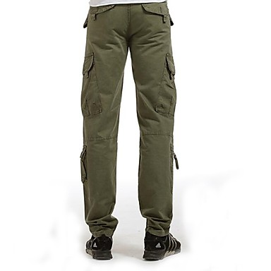 Ανδρικά Παντελόνια με τσέπες Εξωτερική Αντιανεμικό Φορέστε Αντίσταση Βαμβάκι Παντελόνια Πεζοπορία Πολυάθλημα Κατασκήνωση Μαύρο Γκρίζο+Πράσινο Πράσινο Χακί M L XL XXL XXXL