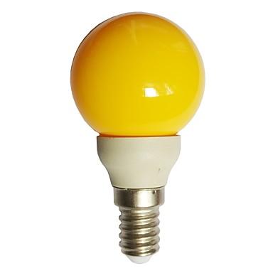 1pc 0.5 W LED Λάμπες Σφαίρα 15-25 lm E14 G45 7 LED χάντρες Dip LED Διακοσμητικό Κίτρινο 100-240 V / RoHs