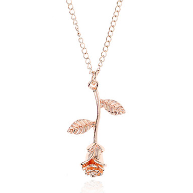povoljno Modne ogrlice-Žene Choker oglice Ogrlice s privjeskom Y Ogrlica Pahulja dame Jednostavan Moda Legura Zlato Pink Rose Gold Ogrlice Jewelry 1 Za Ulica Klub