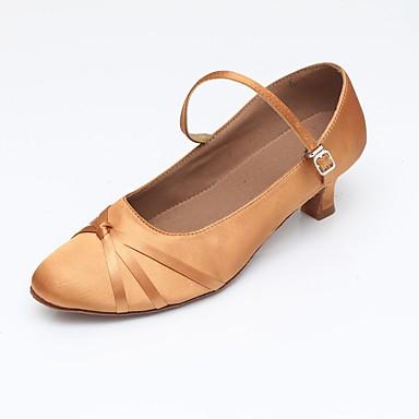 Γυναικεία Παπούτσια Χορού Ελαστικό ύφασμα Μοντέρνα παπούτσια Κόψιμο Πέδιλα / Τακούνια / Αθλητικά Κουβανικό Τακούνι Εξατομικευμένο Μαύρο / Αμύγδαλο / Εσωτερικό / EU42