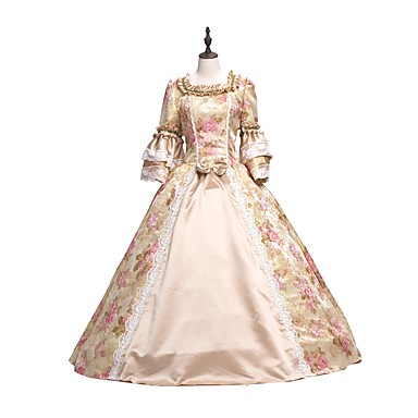 f7cab99d9ec5 Rococo Victorian Party Prom Dress Party Costume Masquerade Ball Gown  Cosplay Pink Ball Gown Floral Long