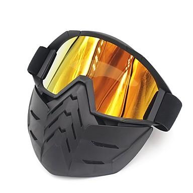 billige Motorsykkel & ATV tilbehør-ski sykkel motorsykkel ansikts maske briller motocross briller motorsykkel åpen ansikt avtakbar briller hjelm vintage briller