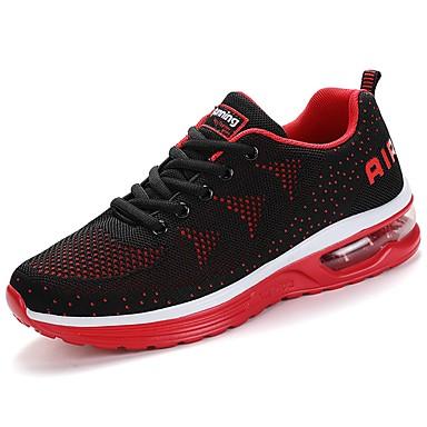 Hombre Zapatos Tul Primavera & Otoño Confort Zapatillas de Atletismo Running Negro / Rojo / Azul Y3qFQWQm0o