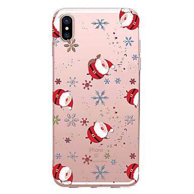 povoljno Apple oprema-Θήκη Za Apple iPhone XS / iPhone XR / iPhone XS Max Prozirno / Uzorak Stražnja maska Božić Mekano TPU