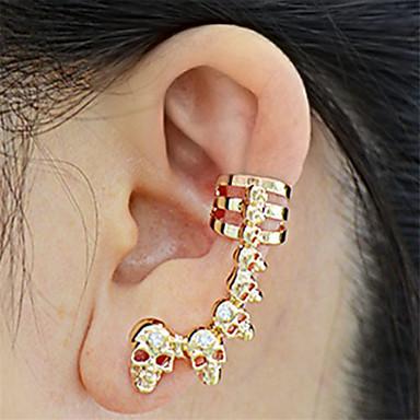 preiswerte Ohrclips-Herrn Damen Ohrstecker Ohr-Stulpen Totenkopf Europäisch Ethnisch Modisch Ohrringe Schmuck Gold / Silber Für Party Karnival 2pcs