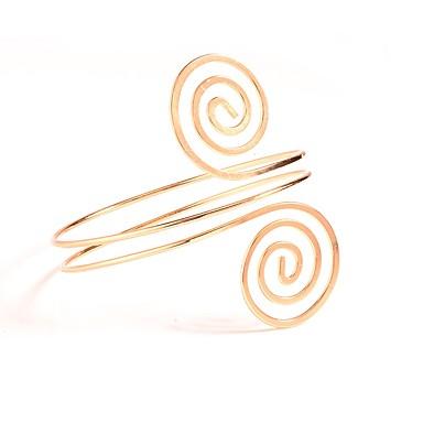levne Dámské šperky-Dámské Tělové ozdoby Manžeta Zlatá / Stříbrná Circle Shape Prohlášení / dámy / Jednoduchý Slitina Kostýmní šperky Pro Denní 9.0*9.0*8.2 cm Letní