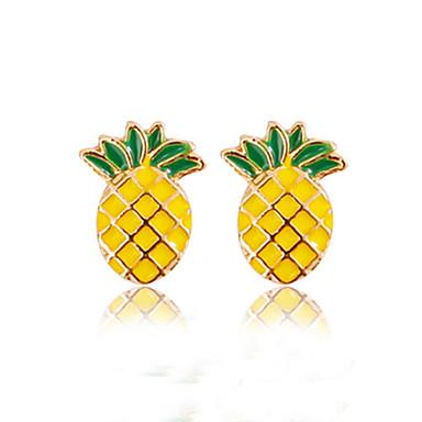 levne Dámské šperky-Dámské Peckové náušnice Ananas Ovoce dámy Módní Náušnice Šperky Žlutá Pro Denní