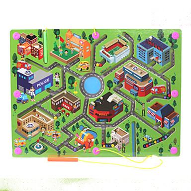 Τρισδιάστατα ξύλινα παζλ Μαγνητικοί λαβύρινθοι Στρες και το άγχος Αρωγής Μαγνητική Παιχνίδια αποσυμπίεσης Ξύλινος Παιδικά Ενηλίκων Κοριτσίστικα Παιχνίδια Δώρο 1 pcs