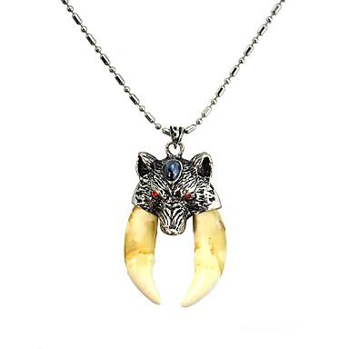 povoljno Modne ogrlice-Muškarci Ogrlice s privjeskom Šiljak Vintage Osnovni Tikovina Zub za pse Legura Bež Ogrlice Jewelry 1 Za Dnevno Festival