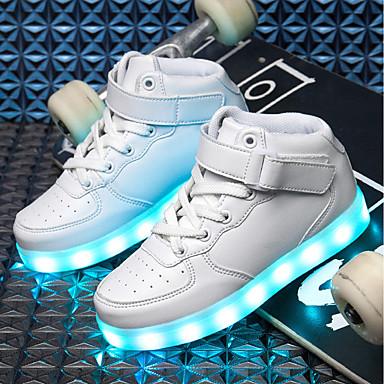 preiswerte Schuhe für Kinder-Jungen Leuchtende Sohlen / Leuchtende LED-Schuhe PU Sneakers Kleine Kinder (4-7 Jahre) / Große Kinder (ab 7 Jahren) LED Schwarz / Blau / Rosa Herbst / Winter / TR