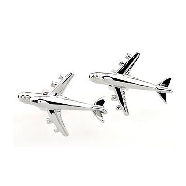 voordelige Herensieraden-Manchetknopen Vliegtuig Formeel Eenvoudig Broche Sieraden Zilver Voor Dagelijks Formeel