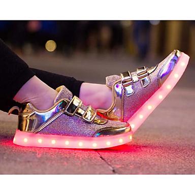 Led Sommer Sko Tyl Pige Sneakers Afslappet Efterår Lysende