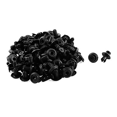 billige Bensinsystemer-50 stk 14 x 6 mm svart plast støtfanger fender fôring push-type holder nitte