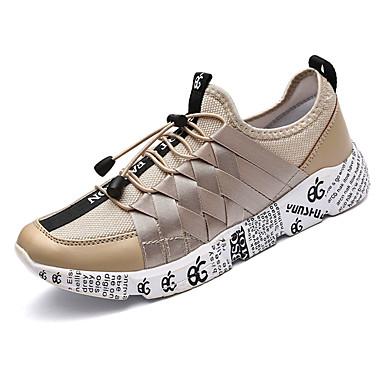 Hombre Zapatos Lino Otoño Suelas con luz Zapatillas de deporte Beige / Rojo / Negro / blanco 9GDRzXDaVV