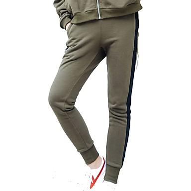 Γυναικεία Pantaloni de Alergat Αθλητικά παντελόνια Track Pants Βαμβάκι Αθλητισμός Παντελόνια Γιόγκα Fitness Γυμναστήριο προπόνηση Προπόνηση Ασκηση Ικανότητα να αναπνέει Ριγέ Μαύρο Πράσινο Χακί
