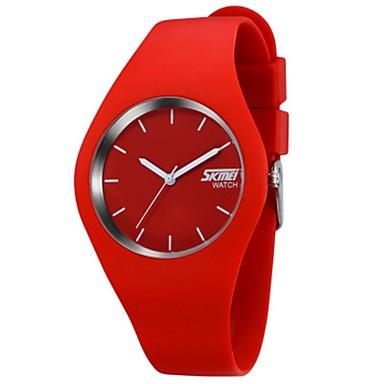 levne Pánské-SKMEI Pro páry Sportovní hodinky Křemenný Silikon Černá / Bílá / Modrá 30 m Voděodolné Kalendář Hodinky na běžné nošení Analogové Na běžné nošení Módní Barevná - Černá / červená Červená Růžová