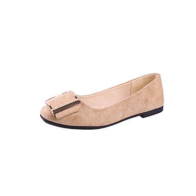 Mujer Zapatos PU Primavera verano Bailarina Bailarinas Tacón Plano Blanco / Negro / Beige pQG4jxo