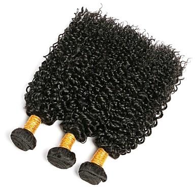 3 δεσμίδες Βραζιλιάνικη Kinky Curly Φυσικά μαλλιά Υφάνσεις ανθρώπινα μαλλιών 8-28 inch Υφάνσεις ανθρώπινα μαλλιών Επεκτάσεις ανθρώπινα μαλλιών / 8A / Kinky Σγουρό