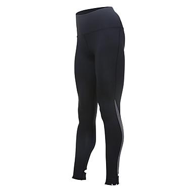 Mulheres Leggings de Corrida Modal Esportes Meia-calça Leggings Ioga Fitness Treino de Ginástica Exercite-se Exercício Secagem Rápida Preto Branco Laranja Rosa claro Cinzento