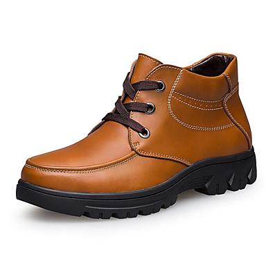 Hombre Zapatos Cuero Primavera / Otoño Botas de Combate Botas Botines / Hasta el Tobillo Negro F2VjQ
