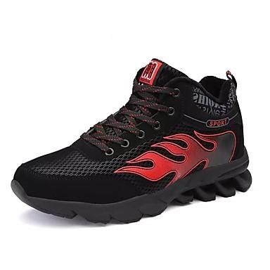 Hombre Zapatos Punto / Tela Primavera / Otoño Confort Zapatillas de Atletismo Running / Paseo Blanco / Negro / Rojo MT6Dfla1Ed
