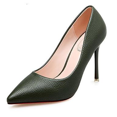 Mujer Zapatos PU Primavera / Otoño Confort / Pump Básico Tacones Tacón Stiletto Negro / Marrón / Rojo se1w6Tqf