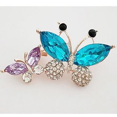 Γυναικεία Κρυστάλλινο Καρφίτσες Πεταλούδα κυρίες Γλυκός Κρύσταλλο Προσομειωμένο διαμάντι Καρφίτσα Κοσμήματα Χρυσό Για Καθημερινά