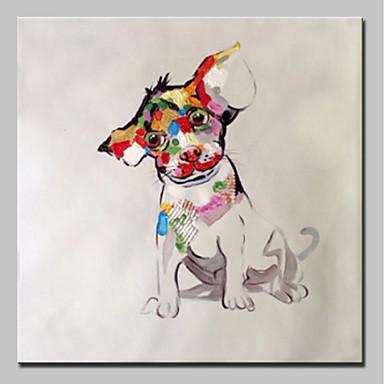 Hang-ζωγραφισμένα ελαιογραφία Ζωγραφισμένα στο χέρι - Ζώα Animals Απλός Μοντέρνα Περιλαμβάνει εσωτερικό πλαίσιο / Επενδυμένο καμβά