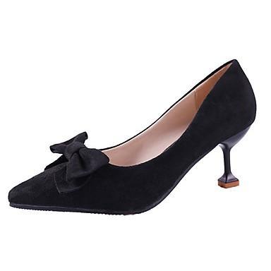 Mujer Zapatos PU Primavera / Otoño Confort / Pump Básico Tacones Tacón Cuadrado Negro / Caqui wPhuO6t4iW