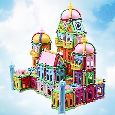 Μαγνητικό μπλοκ Μαγνητικά στικ Μαγνητικά πλακίδια Τουβλάκια 528 pcs Αρχιτεκτονική Fun & Whimsical Αγορίστικα Κοριτσίστικα Παιχνίδια Δώρο