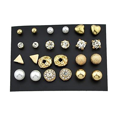 Γυναικεία Κουμπωτά Σκουλαρίκια Χειροπέδες Ear κυρίες Βασικό Ροκ Σκουλαρίκια Κοσμήματα Χρυσό Για Καθημερινά Ημερομηνία 24pcs
