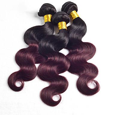povoljno Ekstenzije od ljudske kose-3 paketa Brazilska kosa Tijelo Wave Virgin kosa Ljudske kose plete 8-30 inch Priroda Crna Isprepliće ljudske kose Rasprodaja Prolijevanje besplatno Dvostruka potka Proširenja ljudske kose / 10A